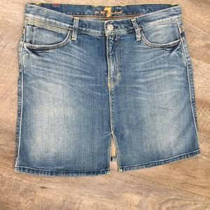 "7 For All Mankind ""Winston"" 100% cotton jean skirt"
